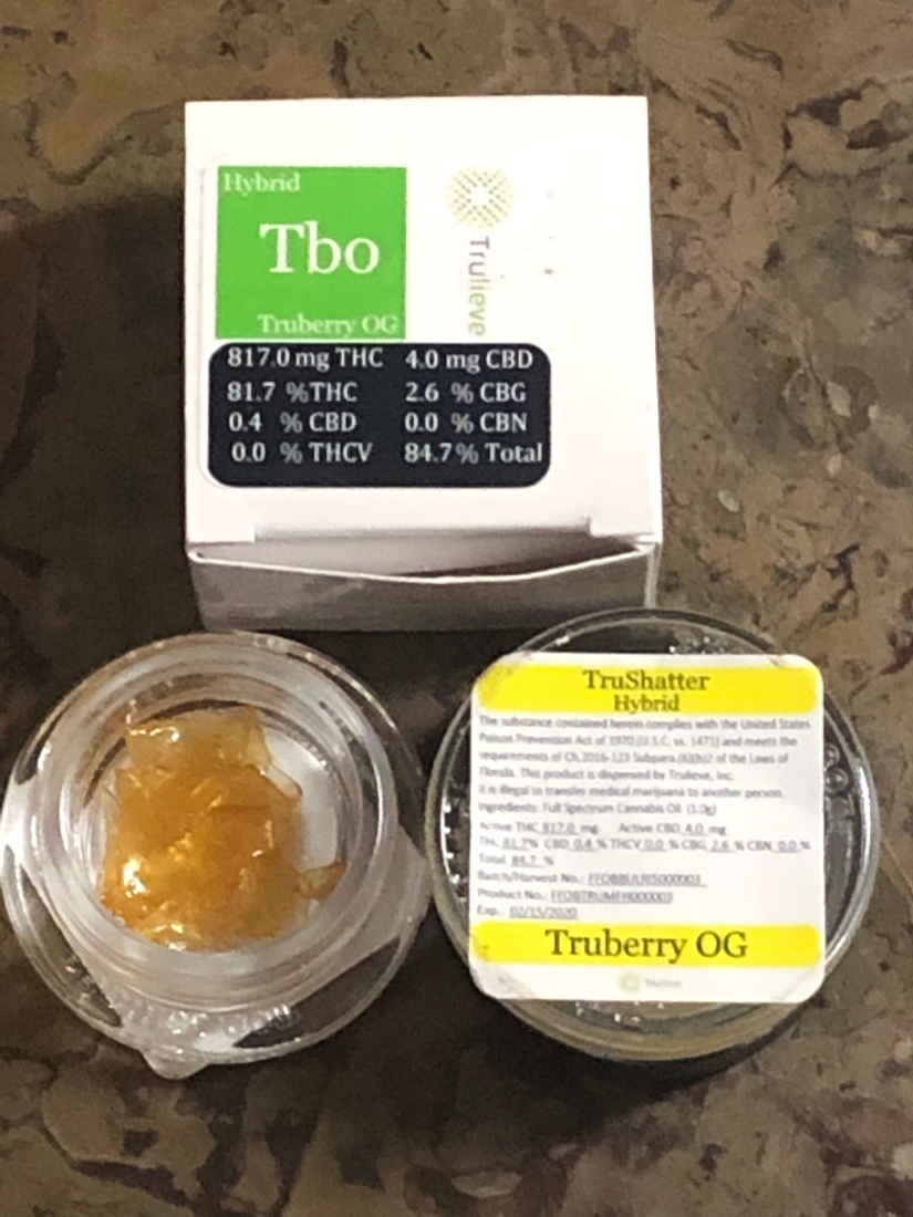 Truberry OG shatter from Trulieve – Cannabis With Rob Stoned